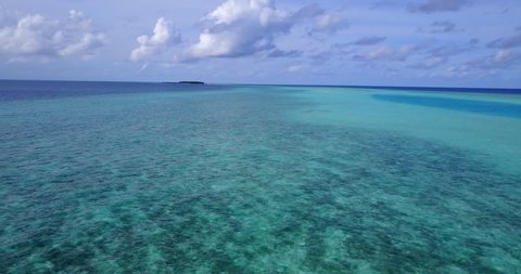v13547 maldives white sand beach tropical islands with drone aerial flying birds eye view with aqua blue sea water and sunny sky