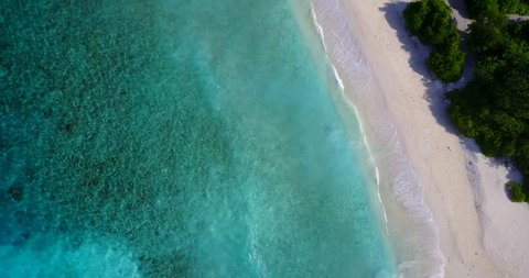 v14699 maldives white sand beach tropical islands with drone aerial flying birds eye view with aqua blue sea water and sunny sky