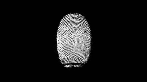 Various Fingerprints Running on black background
