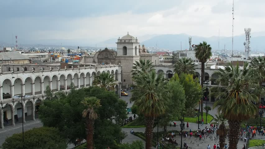 Plaza de Armas, elevated view, Arequipa, Peru