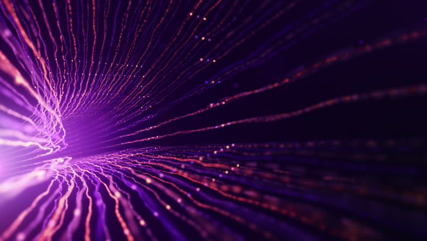 Abstract background with animation of fast moving in tunnel from lines fiber optic network. Magic flickering dots or glowing flying lines. Animation of seamless loop. | Shutterstock HD Video #32620141
