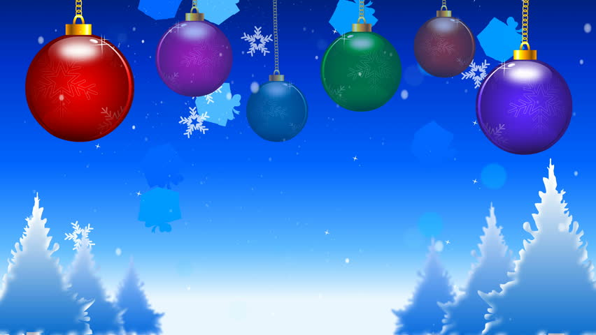 Christmas Lights With Snow Animation Background Stock Video HD