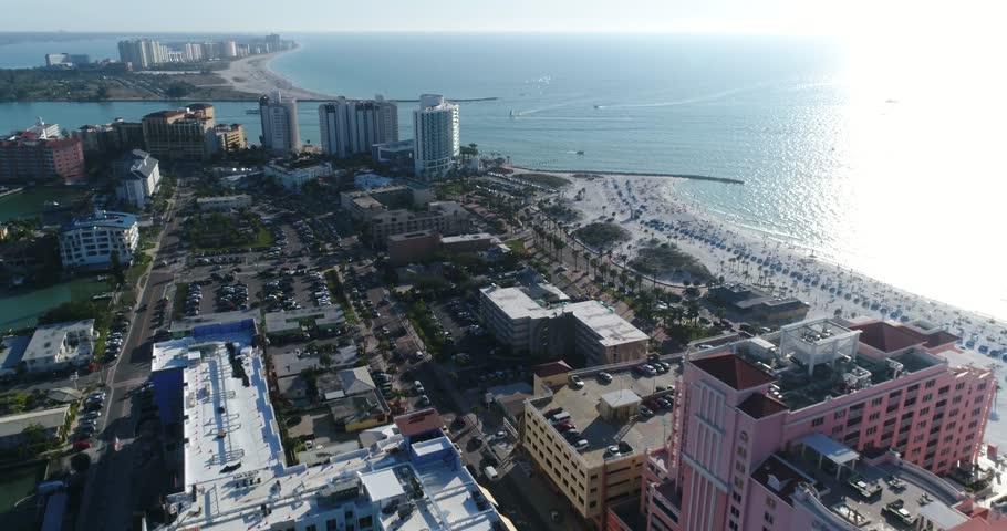 Tampa, Florida/United States - OCTOBER 15, 2017 Clearwater Beach aerial view Pinellas County  #32641441