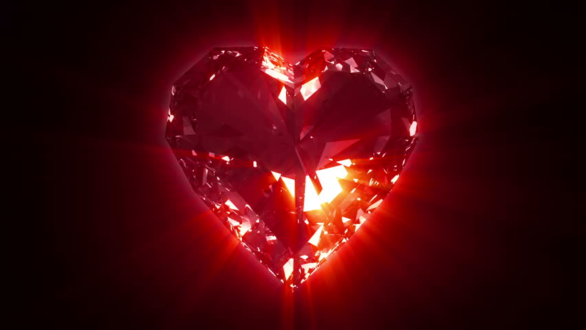 spinning valentine red heart stock footage video 100