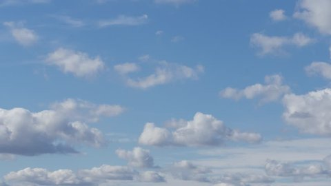 Beautiful White Clouds on Blue Sky in a Sunny Summer Day (Ultra High Definition, UltraHD, Ultra HD, UHD, 4K, 3840x2160)
