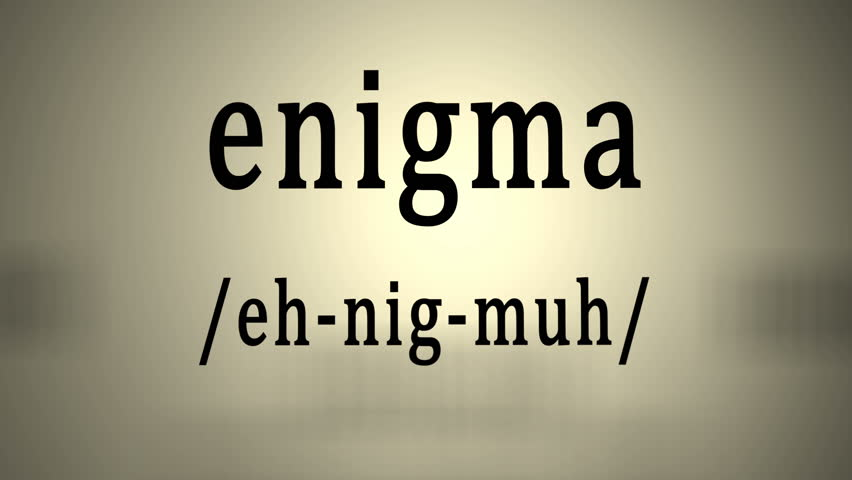 definition enigmatic animation stock footage video  definition enigma animation 4k stock footage clip