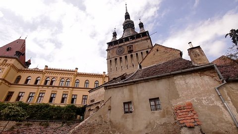 The clock tower of Sighisoara, the only inhabited citadel in the world