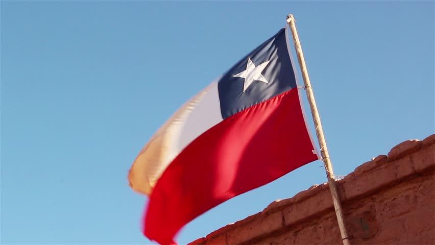 Chile Flag in San Pedro de Atacama