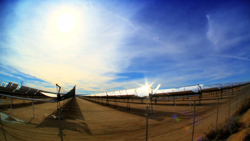 Solar panels harnessing the power of the sun