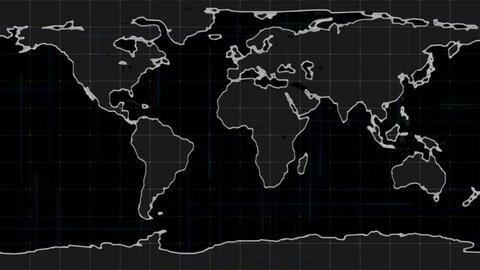Global data detect earth map, Radar , navigation interface, World map