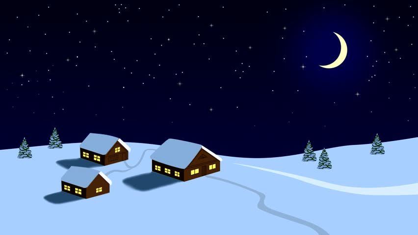 Winter Landscape with Houses, Moon Stockvideos & Filmmaterial (100 %  lizenzfrei) 32838961 | Shutterstock