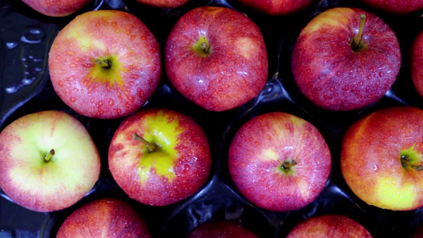 Juicy, ripe apples to choose from. View from above. | Shutterstock HD Video #32868838