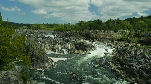 View at Great Falls of Potomac river Virginia USA