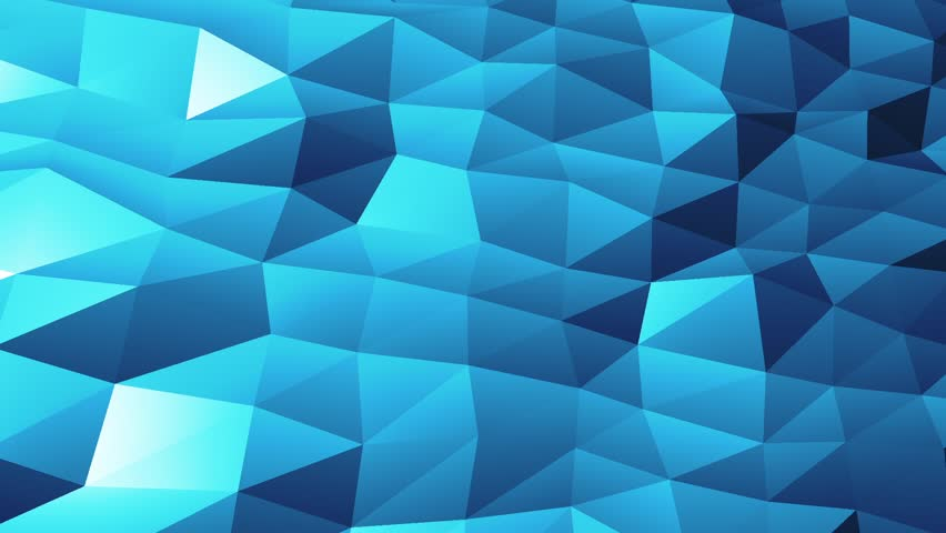Abstract cg polygonal crystal surface. Geometric poly Blue triangles motion background.   Shutterstock HD Video #32909956