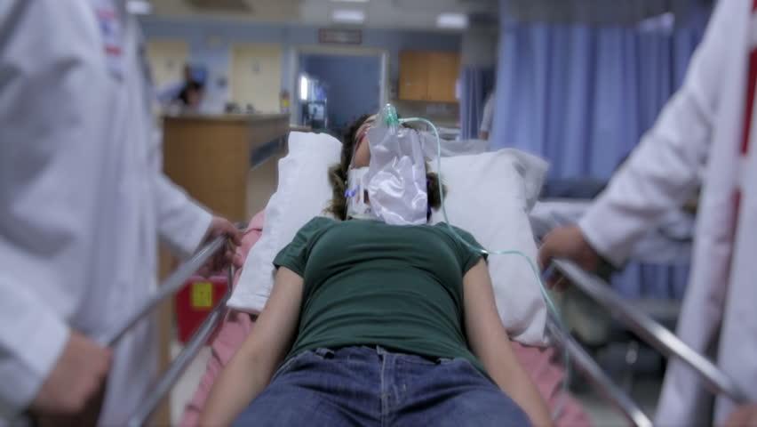 Patient arriving to ER in hospital