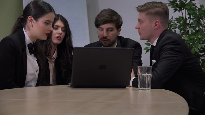Business teamwork team meeting working on laptop successful corporate people job | Shutterstock HD Video #32978629
