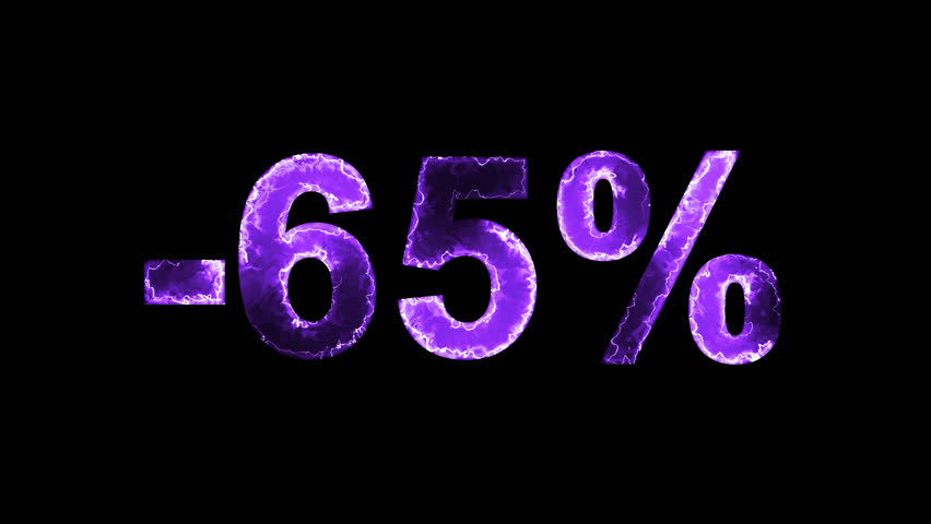 Luminous and shimmering haze inside the letters of the sale, discount, price, promotion, offer, promo, marketing, percent, tag, sale tag, -65%. Transparent, Alpha channel | Shutterstock HD Video #33019780