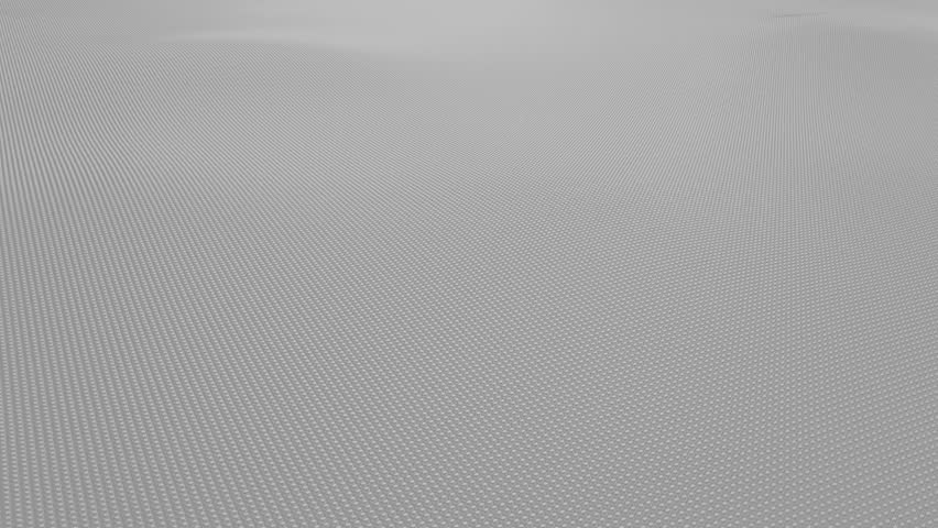 Abstract light gray wavy surface made of small balls, loopable motion background | Shutterstock HD Video #33020770