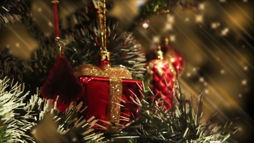 Red Christmas Ornaments Hanging From Stock Footage Video 100 Royalty Free 33034891 Shutterstock
