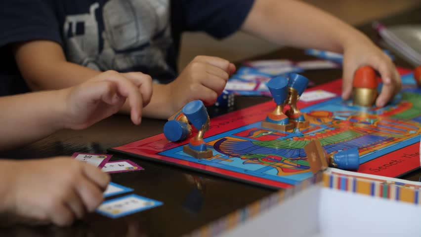 Tabletop games Little kids children play board game