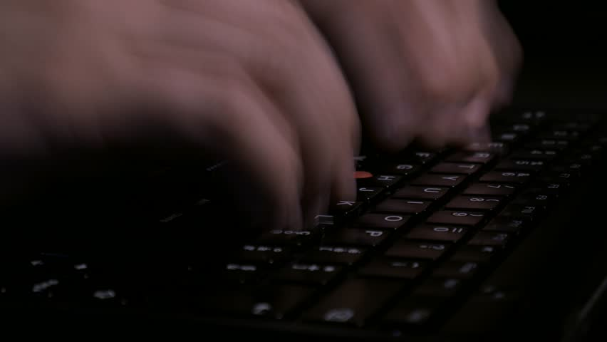 Timelapse of keyboard typing, motion blur | Shutterstock HD Video #33117361