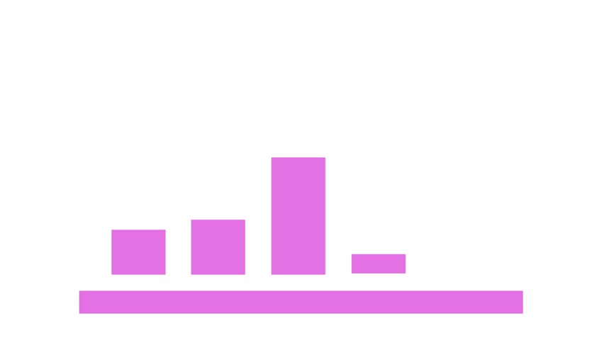 Charts showing growth pink | Shutterstock HD Video #33118951