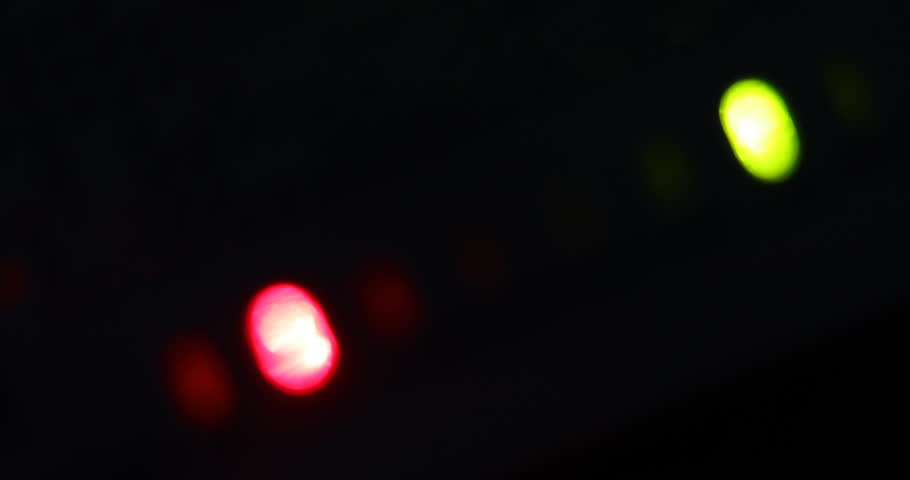 Red light blinking warning in the night, abstract blur scene | Shutterstock HD Video #33139261