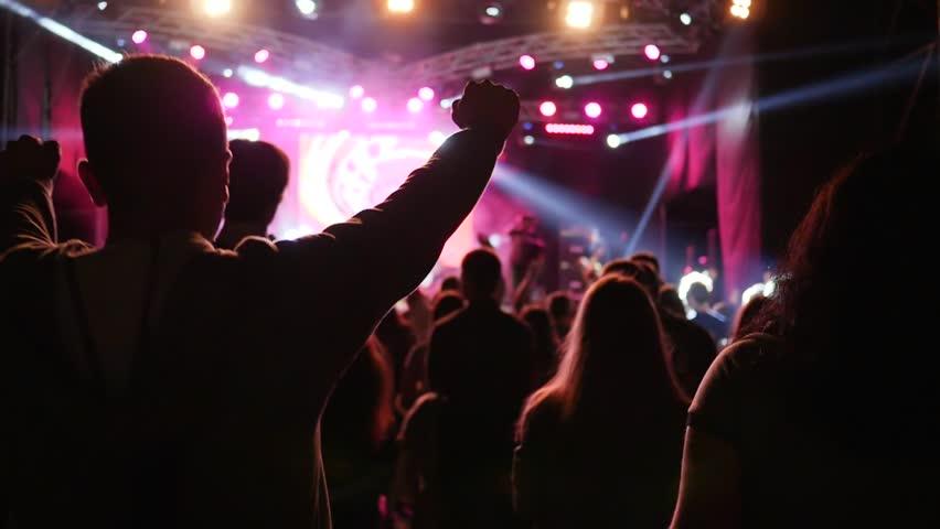 flashing public Concert crowd