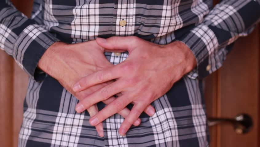 Stomach ache symptoms closeup | Shutterstock HD Video #33202621