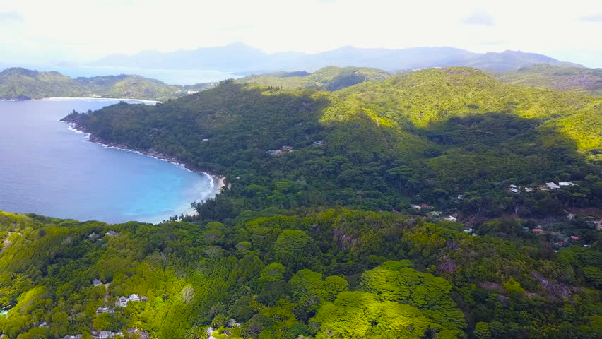 Aerial view of Mahe', Seychelles