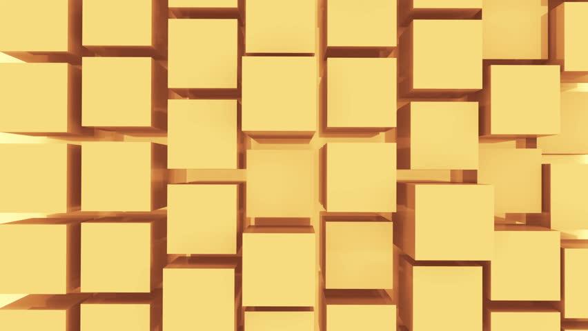4k,tech blockchain data background,abstract 3d golden cubes animation.cg_03998_4k