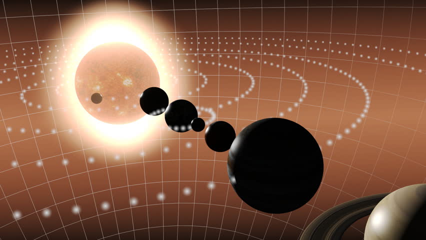 Animation of the solar system