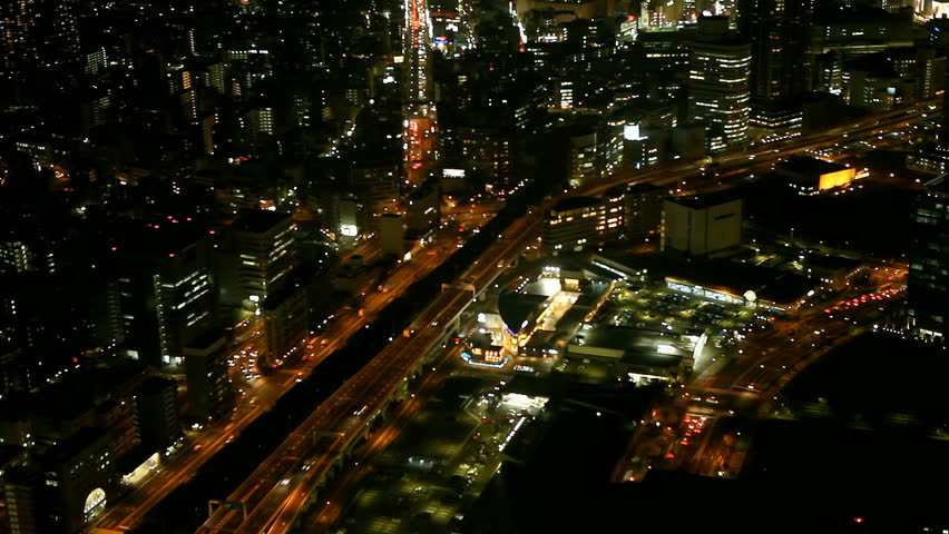Beautiful Timelapse view of night city
