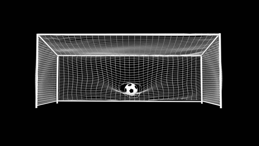 CG soccer goal with alpha channel