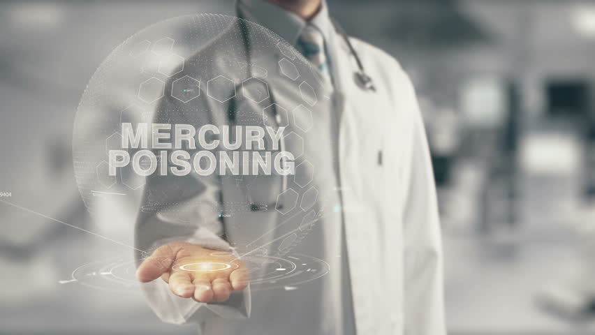 Doctor holding in hand Mercury Poisoning