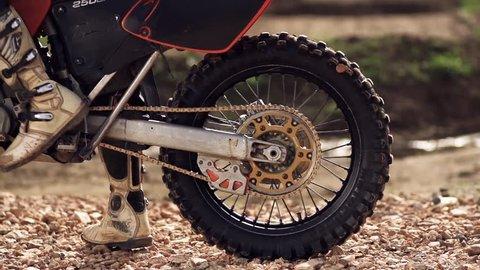 Motocross Wheel Spin Super Slow Motion