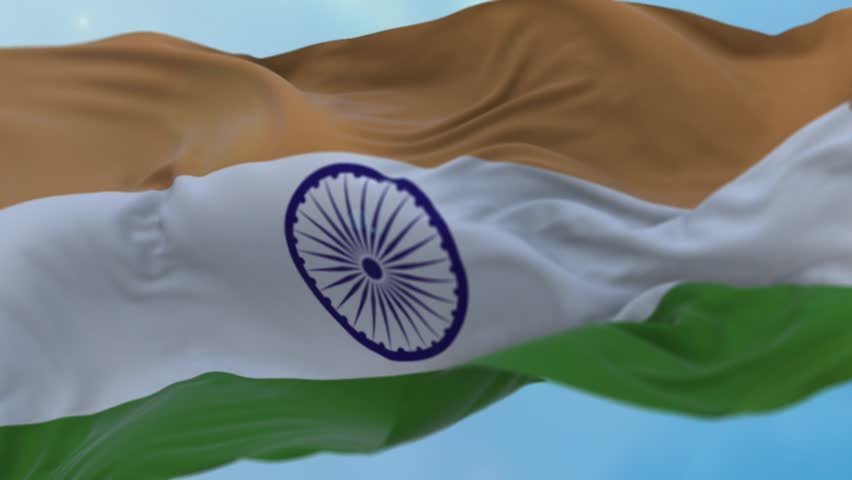 India Flag Stock Footage Video