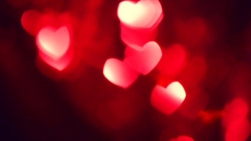 Bokeh Heart Shape Of Light Background Stock Footage Video: Blinking Hearts .Shining Heart Shapes Love Background