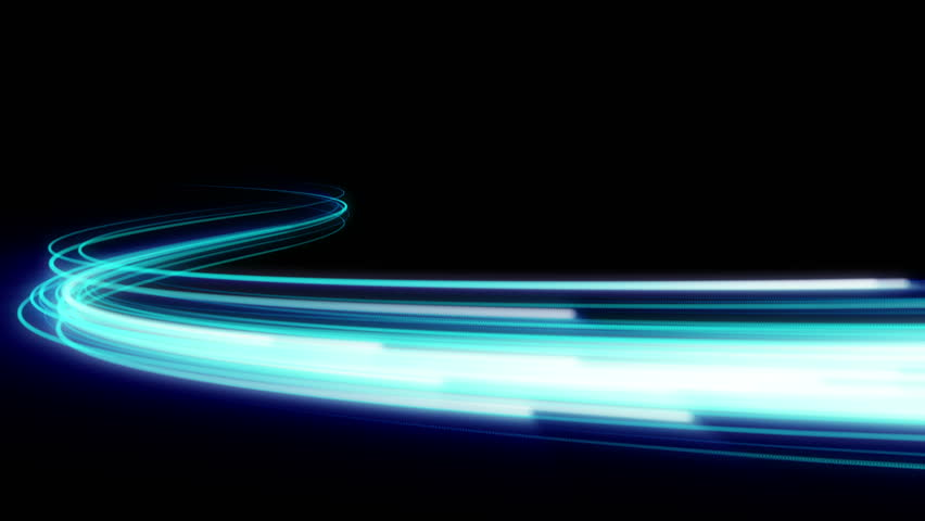 Fast energy flying wave line with flash lights. Animation magic swirl trace path on black background. | Shutterstock HD Video #33592321