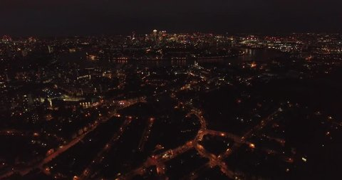 4k Drone shoot over London at night