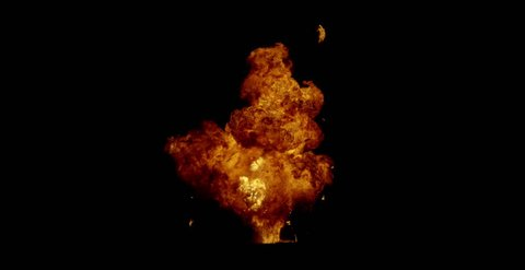 beautiful animation of the explosion process of pyrotechnic products and the release of a large amount of flame