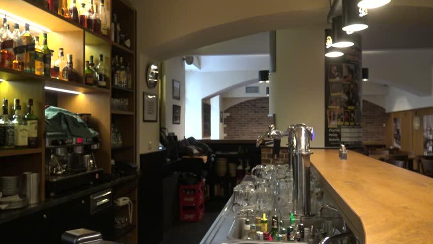 CZECH REPUBLIC, PRAGUE   JANUARY 28, 2016: The Space Behind The Bar
