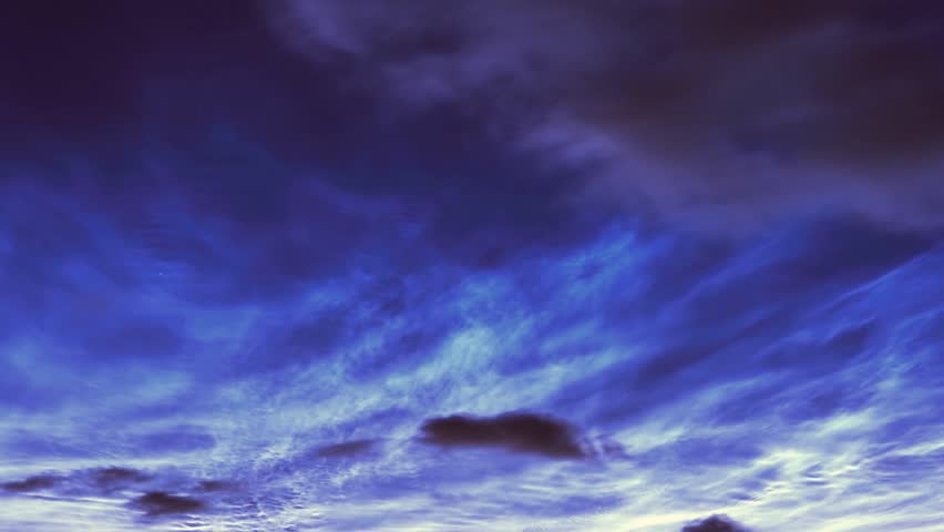 Dark Purple Sky Clouds Day To Night Time Lapse. Dramatic Purple Sky Afterglow Clouds Motion Time ...