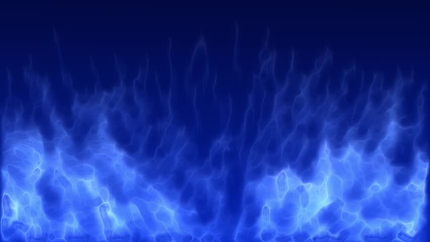 4K Blue Fire,Flame Burning Gas Light Backdrop - Royalty Free Video-7322