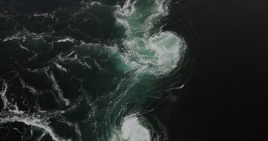 Saltstraumen sea whirlpools natural phenomenon in Norway view from above | Shutterstock HD Video #33937261