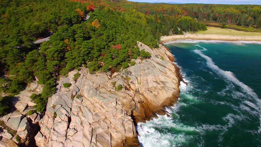 Acadia National Park, Maine. Beautiful aerial view. | Shutterstock HD Video #33986281