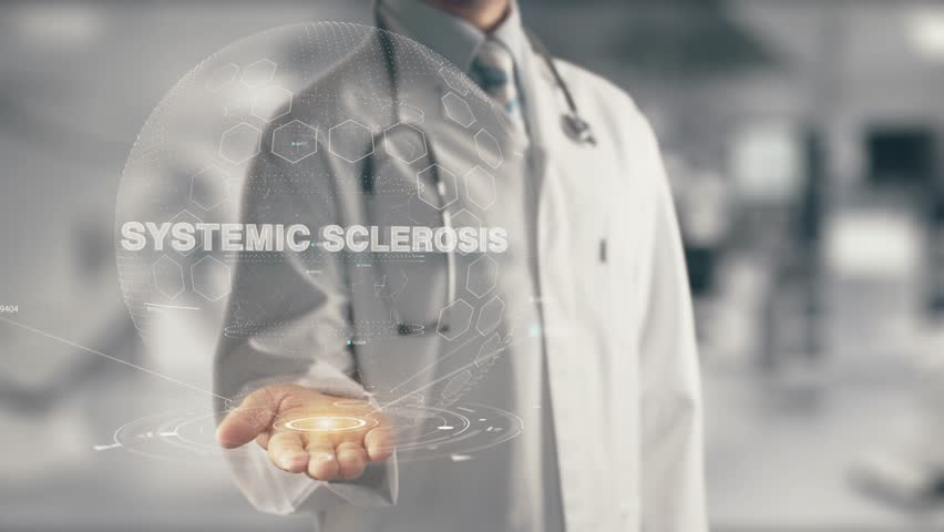 Doctor holding in hand Systemic Sclerosis