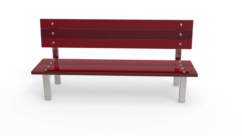 Park Bench Rotates On White Stock Footage Video 100
