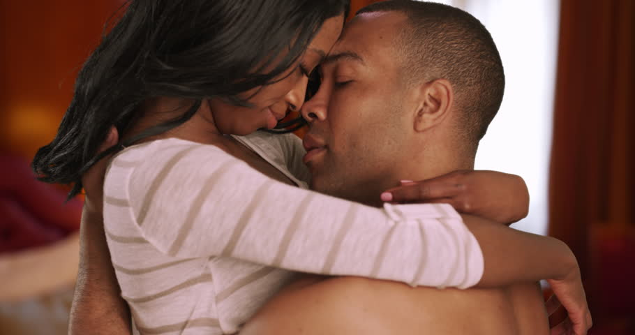 Black man and woman in love