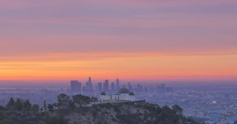 Cinema 4k footage of Sunrise on 12/23/17 around 6:51 AM in Griffith Park of the Griffith Observatory and Downtown Los Angeles. Shot with the Panasonic GH4
